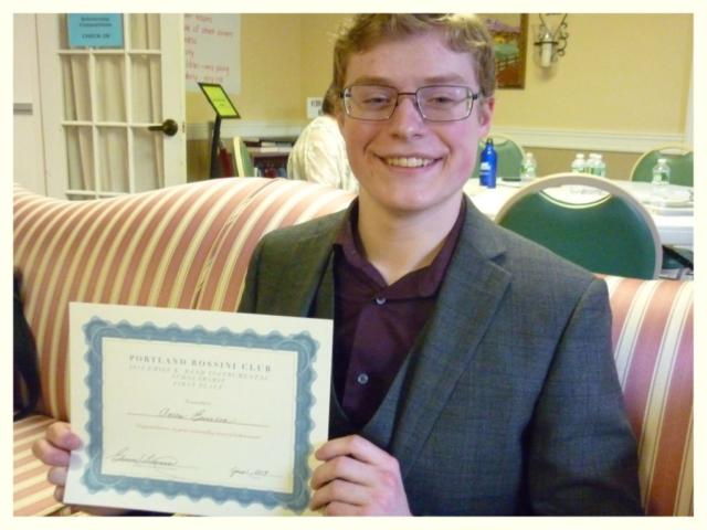 2019 Emily K. Rand Instrumental Scholarship First Place Winner Aaron Emerson