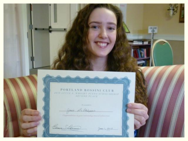 2019 Wright Piano Scholarship First Place Winner Josie DiPhilippo
