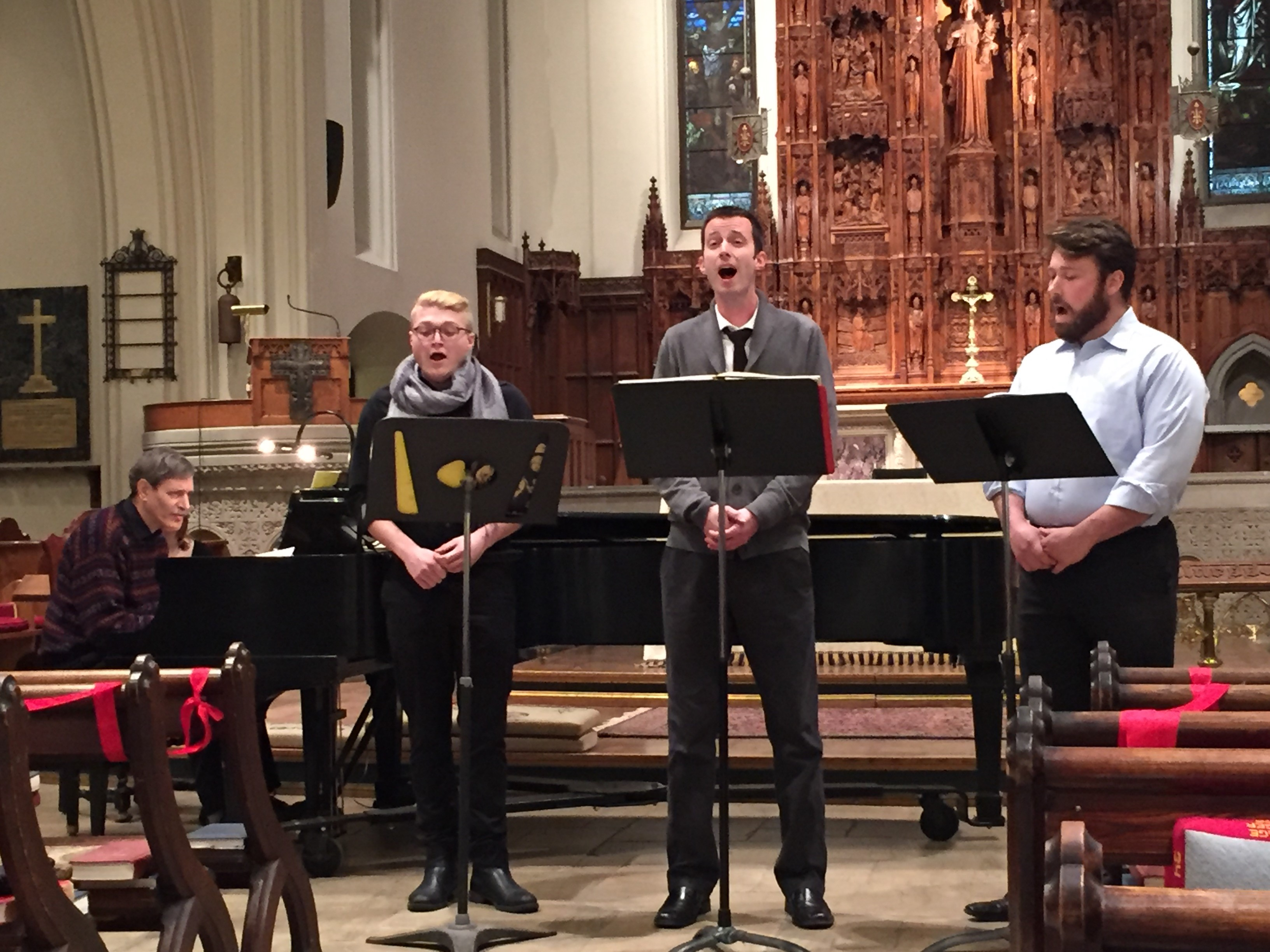 A performance at the Cathedral of St. Luke's in Portland.